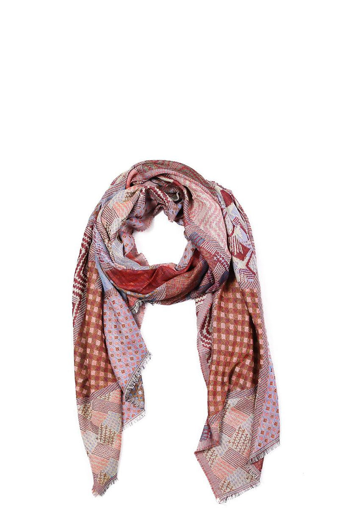 Mixed pattern mosaic scarf-