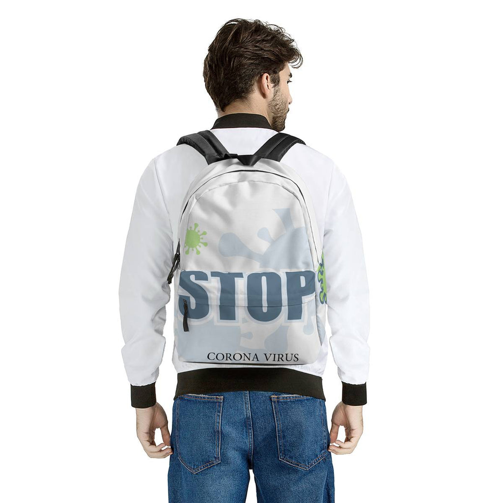 STOP CORONAVIRUS All Over Print Cotton Backpack