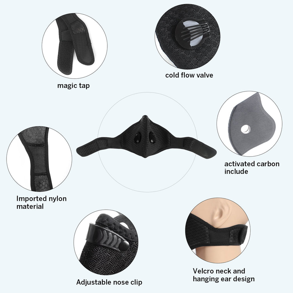 Unigear Upgrade Activated Carbon Dust/Dustproof Face Mask