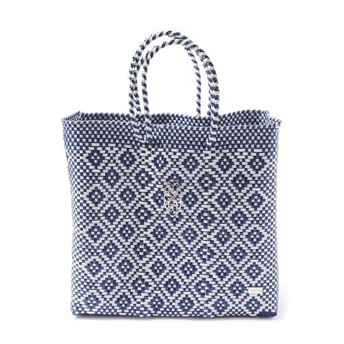 MEDIUM BLUE AZTEC TOTE BAG