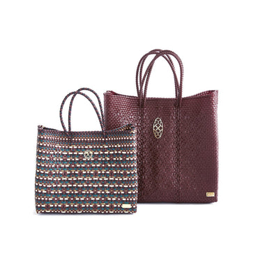 MEDIUM BURGUNDY TOTE BAG