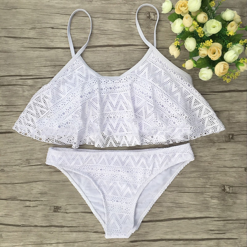 NATURE ARMOUR swimwear women 2018 bikini set solid swimwear for women