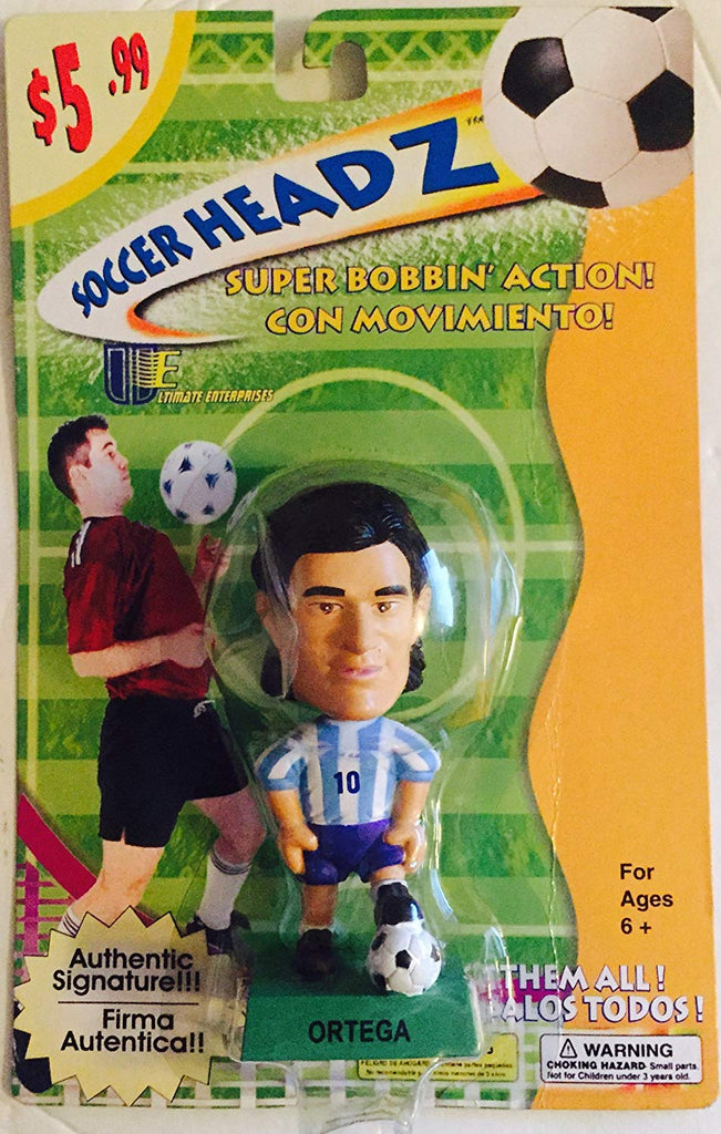 Ariel Ortega Bobble Head Figure - Argentina Soccer Headz by Ultimate Enterprises, LLC