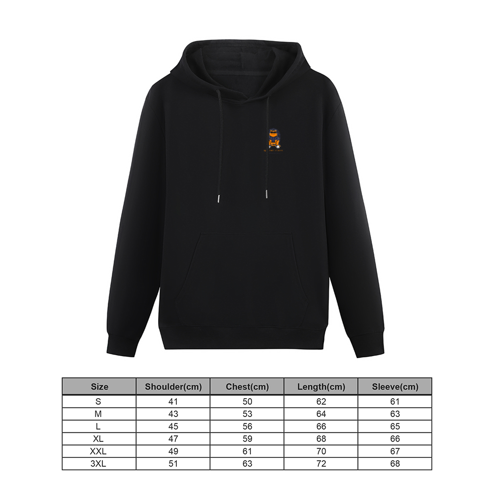 Customizable Hoodie Front and Back Print Hooded Sweater with Pockets for Women