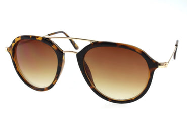 Pilot Sunglases Tortoise Brown with Double Bridge