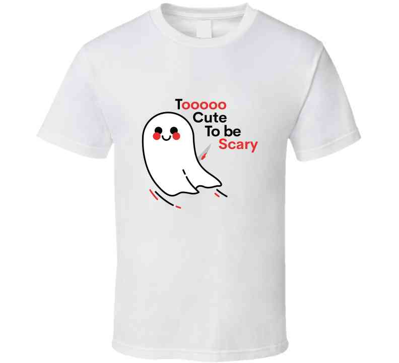 Too Cute To Be Scary Ladies T Shirt