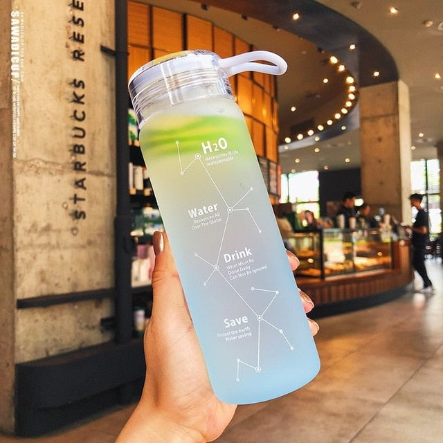 Candy-colored Indestructible Matte Leak-proof Glass Kettle 500 Ml Gifted Portable Water Bottle For Travel Yoga Running Camping