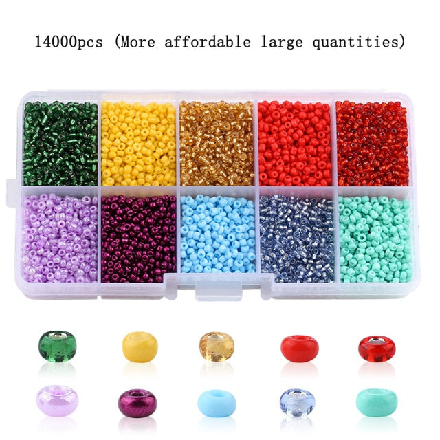 Wholesale 2mm Czech Glass Seed Beads Belt box set charm seedbeads Rondelle Spacer Beads For DIY Bracelet Necklace Jewelry Making