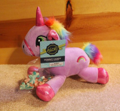 PURPLE UNICORN PLUSH with Candy