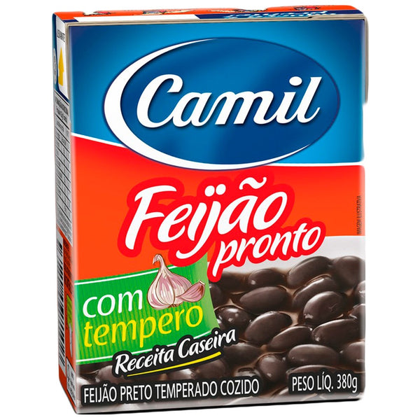 Feijão Preto Cozido e Temperado ( Camil )/Cooked and Seasoned Black Beans