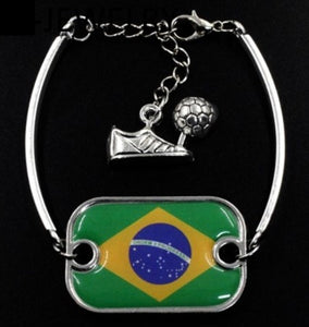 Pulseira Copa do Mundo 2018 /  World Cup Brazil 2018 Flag Bracelet