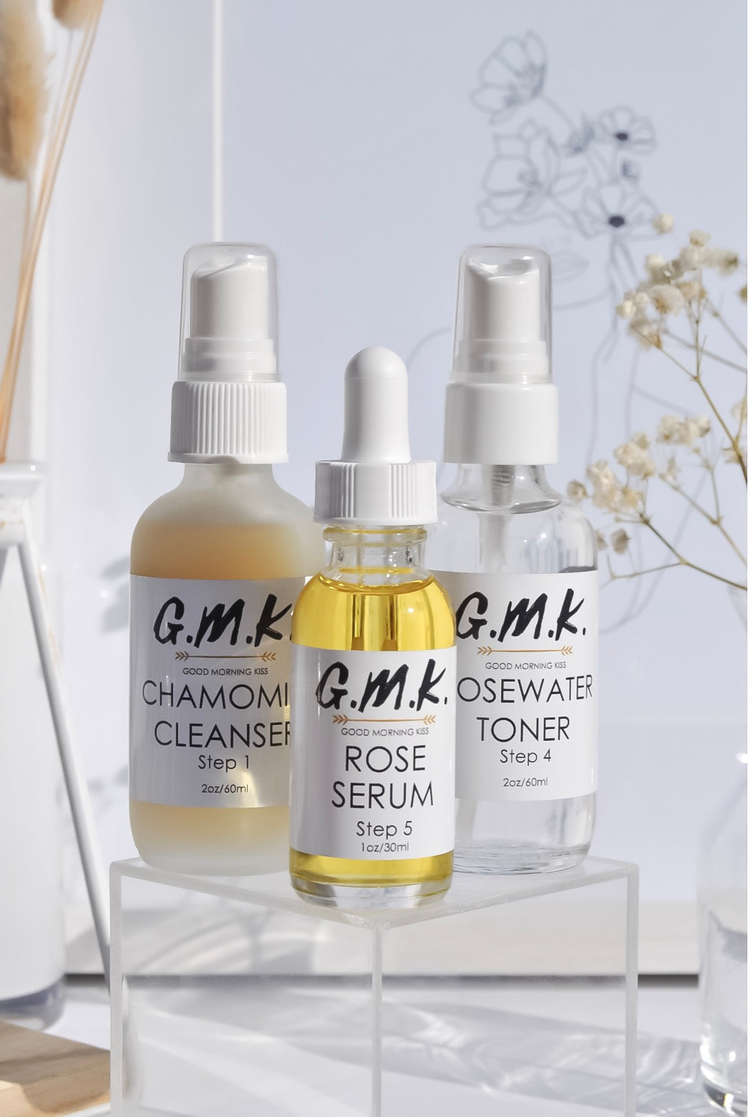 Daily kit: Chamomile Cleanser, Rosewater Toner and Rose Serum