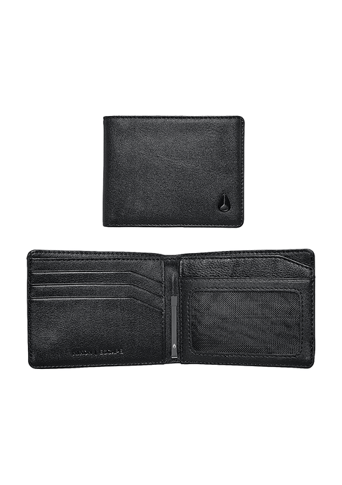 CARTERA ESCAPE BI FOLD CLIP WALLET BLACK