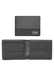 CARTERA ORIGAMI ARC BI FOLD COIN WALLET BLACK