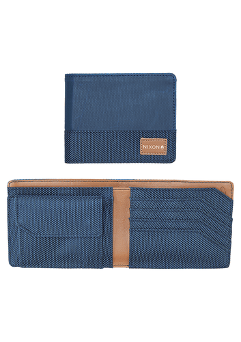 CARTERA ORIGAMI ARC BI FOLD COIN WALLET NAVY BLUE