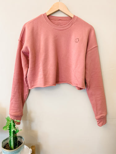 CROPPED CREW FLEECE