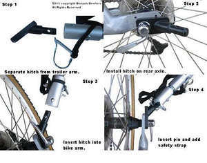 Rounded Angled Bike Hitch.