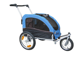 Booyah Medium Dog Stroller and Trailer Combo with Suspension