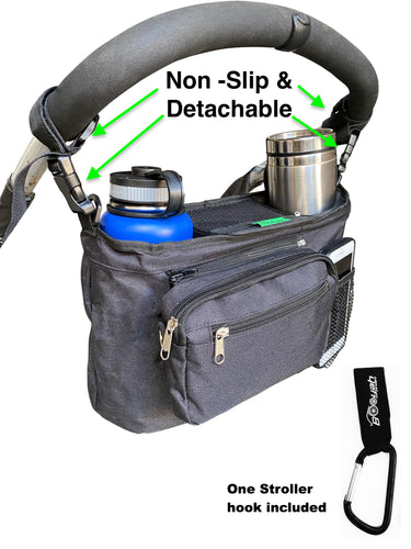 Booyah Stroller Detachable, Non Slip, Insulated Organizer Cup Holder fits Hydroflask.