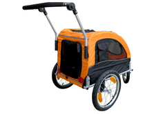 Booyah Medium Dog Stroller and Trailer Combo with Suspension - Orange