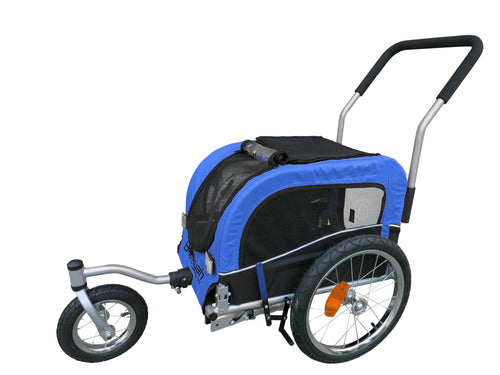 Booyah Small Pet Stroller and Trailer - Blue