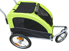 Booyah Medium Dog Stroller and Trailer Combo with Suspension - Black