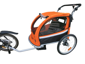 Booyah Baby Bike Trailer and Stroller II – Orange
