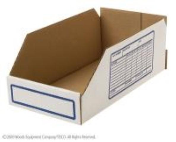 (100) BINBOX6 CORRUGATED BIN BOX - 6 INCHES WIDE