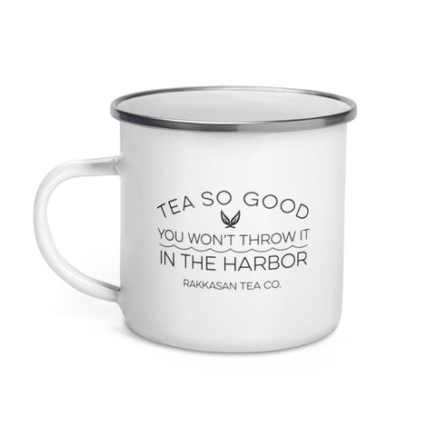 Tea in the Harbor Enamel Mug