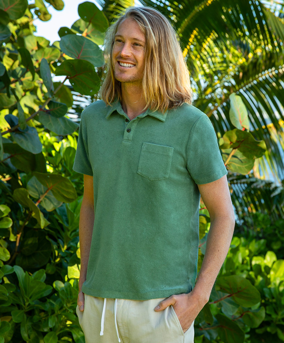 mens polos and henleys
