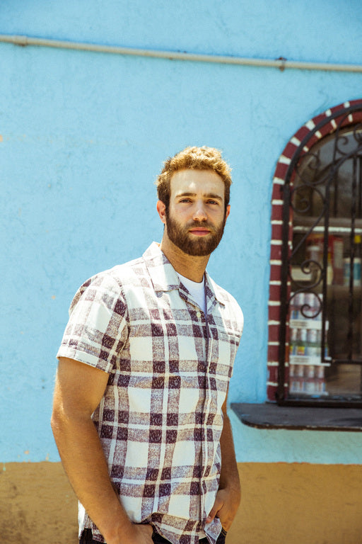 Daniel Norris wearing the Outerknown Summer Camp shirt