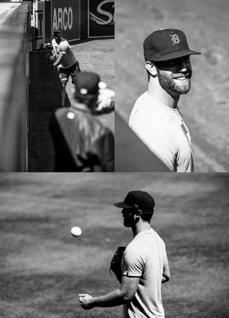 Daniel Norris casually playing baseball