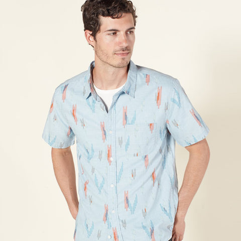 Man in Outerknown shirt