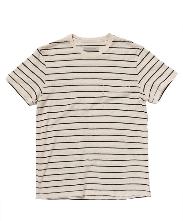 HEMP STRIPE POCKET TEE