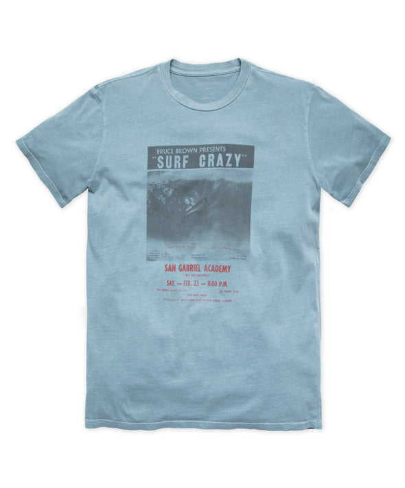 Surf Crazy Poster Tee