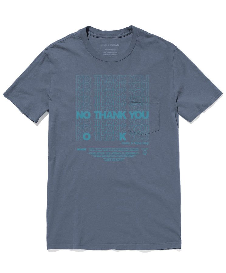 No Thank You Pocket Tee