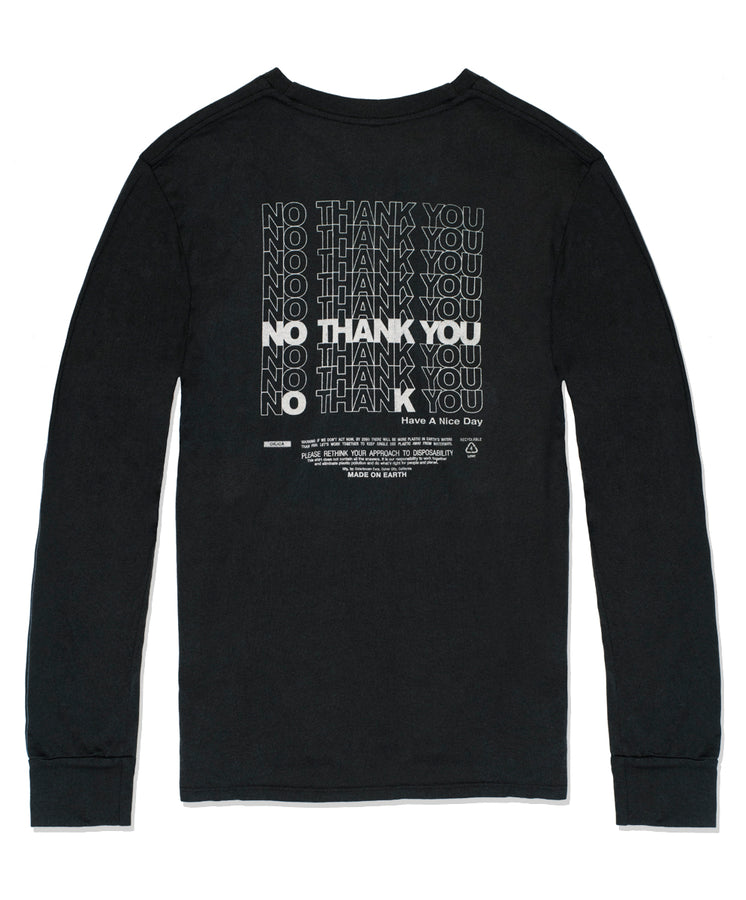No Thank You Pocket L/S Tee
