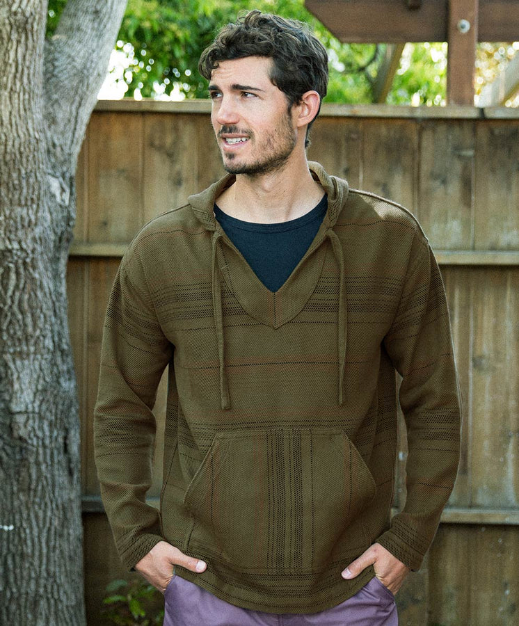 blanket baja pullover model-  olive diamondhead