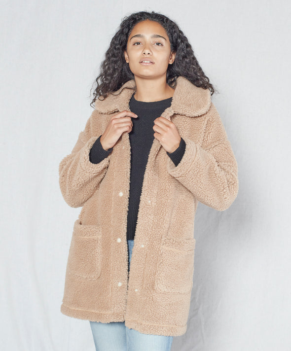 Woodland Sherpa Coat - Final Sale