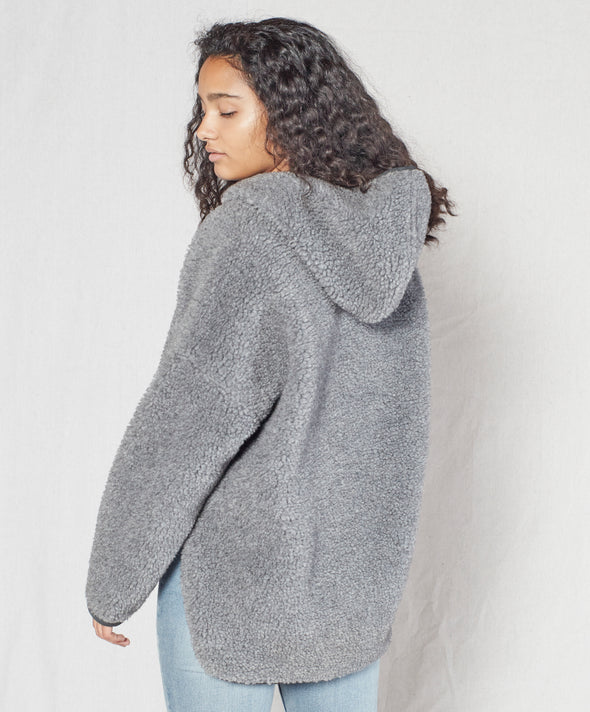 Seaside Sherpa Poncho - Final Sale
