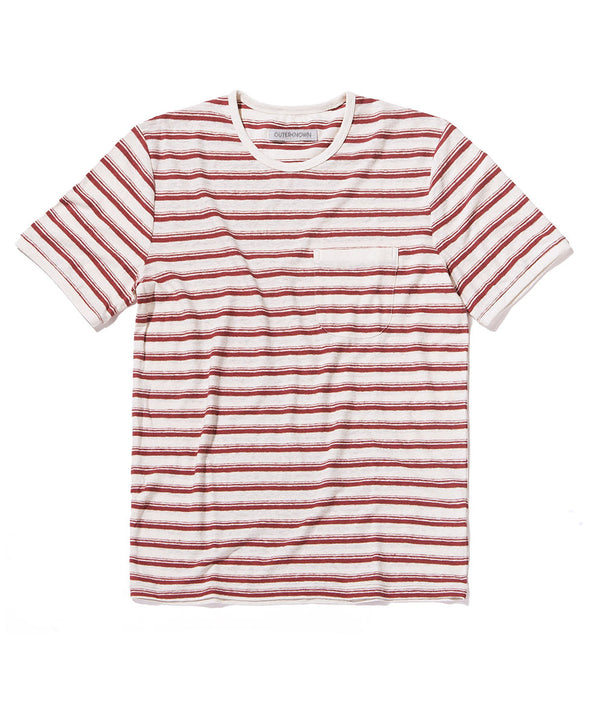 shonan stripe pocket tee red