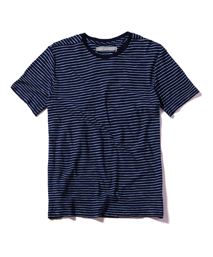 bay stripe tee blue flat