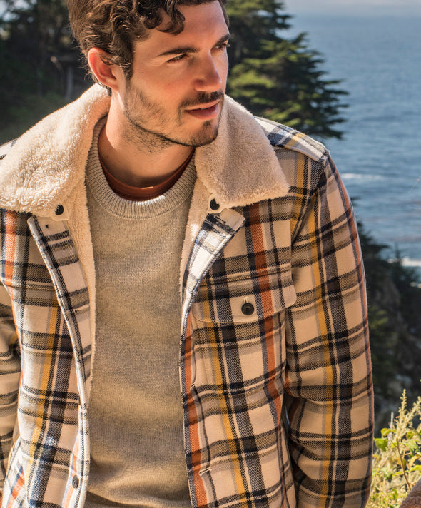 Sherpa Blanket Shirt Jacket - Final Sale