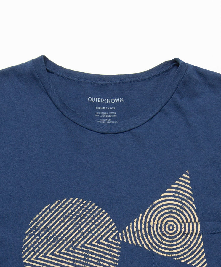 Woodblock OK Pocket Tee