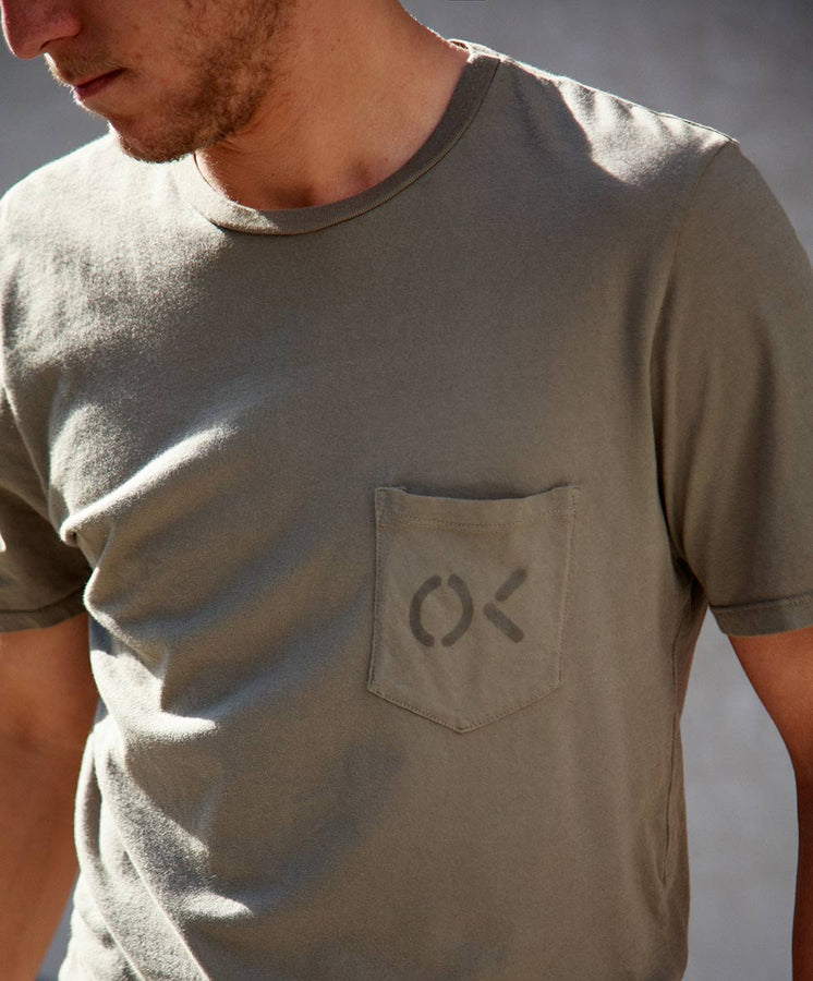 OK Pocket Stencil Tee - Final Sale