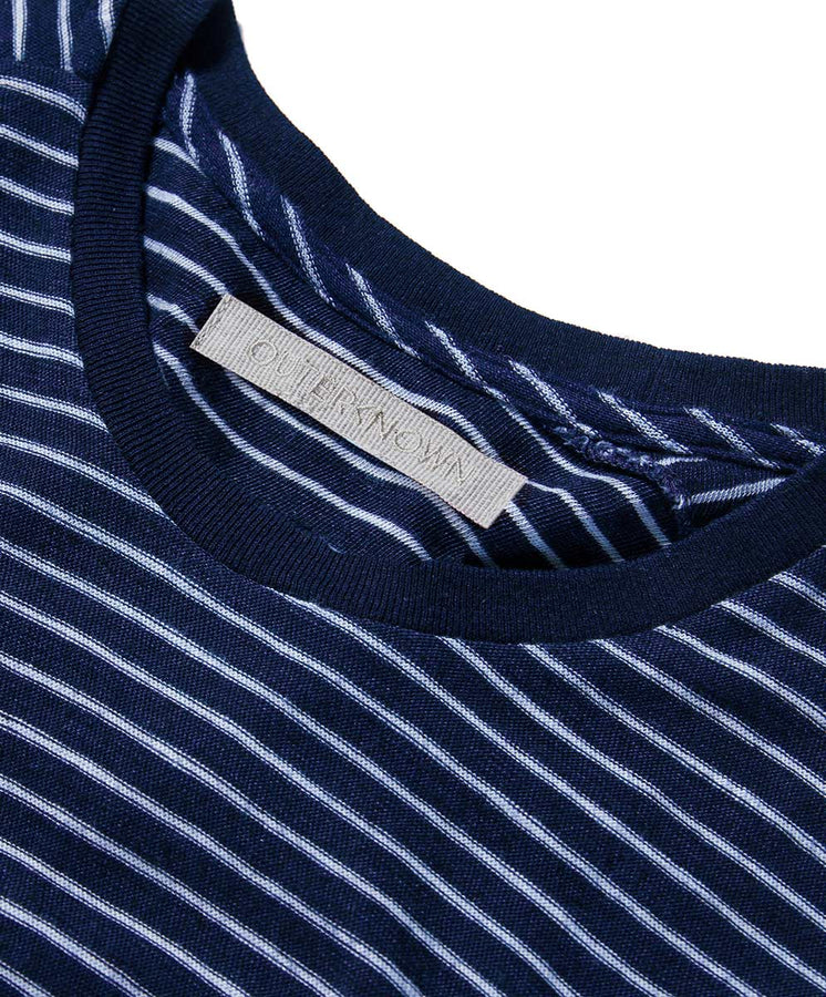 bay stripe tee blue detail 1