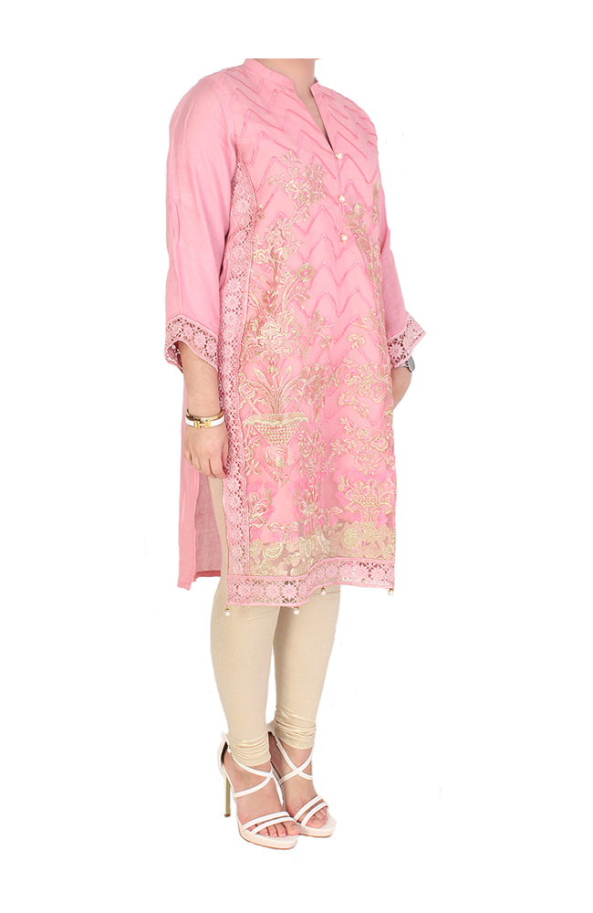 Pink Semi Formal Kurti