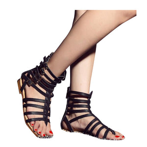 e9b0569b9 Gladiator England Style Women s Roman Sandals with Buckles ...