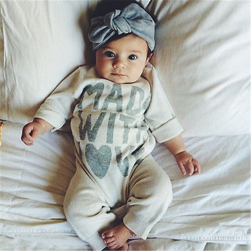 Made With Love Jumpsuit for Baby Boy or Girl