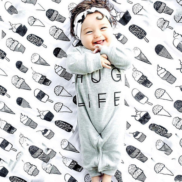 Hug Life Letter Jumpsuit for Baby